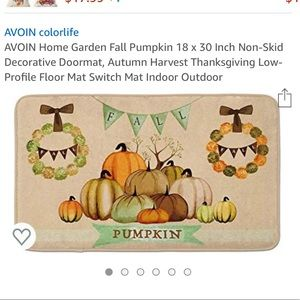 Fall welcome mat for outdoors or indoors
